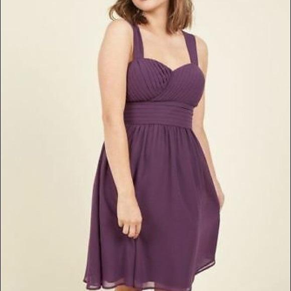 ModCloth NWOT Purple Plus Size Dress